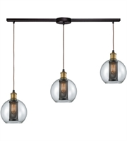 Picture for category Elk 14530/3L Bremington Pendants 36in Oil Rubbed Bronze with Tarnished Brass
