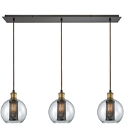 Picture for category Elk 14530/3LP Bremington Pendants 36in Oil Rubbed Bronze with Tarnished Brass
