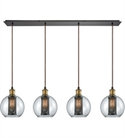 Picture for category Elk 14530/4LP Bremington Pendants 46in Oil Rubbed Bronze with Tarnished Brass