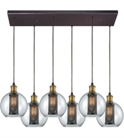 Picture for category Elk 14530/6RC Bremington Pendants 30in Oil Rubbed Bronze with Tarnished Brass