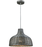Picture for category Elk 31641/1 Pleasant Fields Pendants 14in Weathered Gray Wicker Metal 1-light