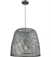 Picture for category Elk 31642/1 Pleasant Fields Pendants 20in Weathered Gray Wicker Metal 1-light