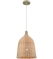 Picture for category Elk 31643/1 Pleasant Fields Pendants 12in Russet Beige Wicker Metal 1-light