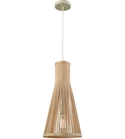Picture for category Elk 31644/1 Pleasant Fields Pendants 10in Russet Beige Wicker Metal 1-light