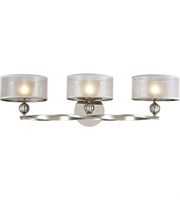 Picture for category Elk 32292/3 Corisande Bath Lighting 31in Polished Nickel Metal Fabric Glass