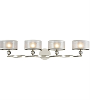 Picture for category Elk 32293/4 Corisande Bath Lighting 43in Polished Nickel Metal Fabric Glass