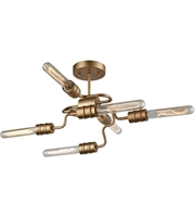 Picture for category Elk 32990/6 Transit Semi Flush 16in Matte Gold Metal 6-light