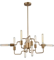 Picture for category Elk 32991/8 Transit Chandeliers 24in Matte Gold Metal 8-light