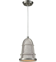Picture for category Elk 45335/1 Urban Form Pendants 7in Black Nickel Concrete Metal 1-light