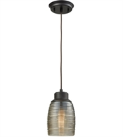 Picture for category Elk 46216/1 Muncie Pendants 5in Oil Rubbed Bronze Metal Glass 1-light