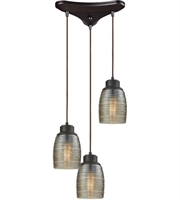 Picture for category Elk 46216/3 Muncie Pendants 10in Oil Rubbed Bronze Metal Glass 3-light
