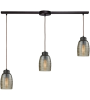 Picture for category Elk 46216/3L Muncie Pendants 36in Oil Rubbed Bronze Metal Glass 3-light
