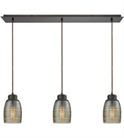 Picture for category Elk 46216/3LP Muncie Pendants 36in Oil Rubbed Bronze Metal Glass 3-light