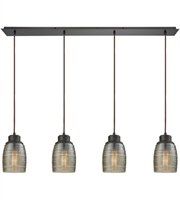 Picture for category Elk 46216/4LP Muncie Pendants 46in Oil Rubbed Bronze Metal Glass 4-light
