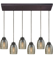Picture for category Elk 46216/6RC Muncie Pendants 30in Oil Rubbed Bronze Metal Glass 6-light