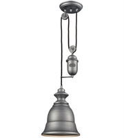 Picture for category Elk 65160-1 Farmhouse Pendants 8in Weathered Zinc Metal 1-light