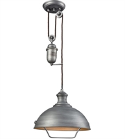 Picture for category Elk 65161-1 Farmhouse Pendants 14in Weathered Zinc Metal 1-light