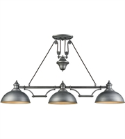 Picture for category Elk 65163-3 Farmhouse Island Lighting 56in Weathered Zinc Metal 3-light