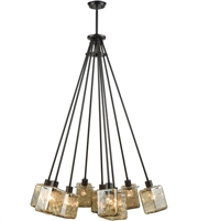 Picture for category Elk 46183/9 Watercube Chandeliers 34in Oil Rubbed Bronze Metal Glass 9-light