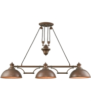 Picture for category Elk 65273-3 Farmhouse Island Lighting 56in Tarnished Brass Metal 3-light
