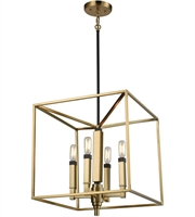 Picture for category Elk 67754/4 Mandeille Chandeliers 16in Satin Brass with Oil Rubbed Bronze Metal