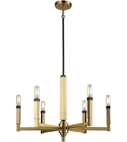 Picture for category Elk 67757/6 Mandeille Chandeliers 23in Satin Brass with Oil Rubbed Bronze Metal