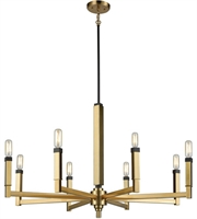 Picture for category Elk 67758/8 Mandeille Chandeliers 31in Satin Brass with Oil Rubbed Bronze Metal