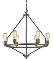 Picture for category Elk 81175/6 Galaway Chandeliers 25in Windswept Siler Metal 6-light