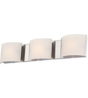 Picture for category Elk BV6T3-10-15 Pandora Bath Lighting 25in Chrome Metal Glass 3-light