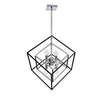 Picture for category Dainolite KAP-196P-PC-MB Kappa Pendants 19in Polished Chrome Steel 6-light