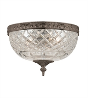 Picture for category Flush Mounts 2 Light With English Bronze Lead Crystal Cast Brass 10 inch 120 Watts - World of Lighting