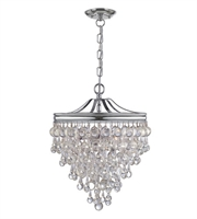 Picture for category Pendants 3 Light With Clear Glass Drops Clear Glass Drops Steel 12 inch 180 Watts - World of Lighting