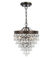 Picture for category Pendants 3 Light With Vibrant Bronze Clear Glass Drops Steel 12 inch 180 Watts - World of Lighting