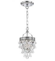 Picture for category Pendants 1 Light With Polished Chrome Clear Glass Drops Brass 8 inch 100 Watts - World of Lighting