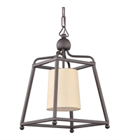 Picture for category Pendants 1 Light With Dark Bronze Flax Linen Steel Drum Medium Base 12 inch 100 Watts - World of Lighting