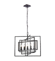 Picture for category Chandeliers 5 Light With Raw Steel Steel Drum 24 inch 300 Watts - World of Lighting