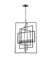 Picture for category Chandeliers 7 Light With Raw Steel Steel Drum 24 inch 420 Watts - World of Lighting