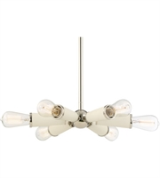 Picture for category Chandeliers 6 Light With Polished Nickel Steel Drum 14 inch 600 Watts - World of Lighting