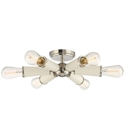 Picture for category Semi Flush Mounts 6 Light With Polished Nickel Steel Medium 14 inch 600 Watts - World of Lighting