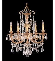 Picture for category Chandeliers 5 Light With Olde Brass Clear Hand Cut Crystal Cast Brass 20 inch 300 Watts - World of Lighting