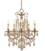 Picture for category Chandeliers 5 Light With Olde Brass Cast Brass 20 inch 300 Watts - World of Lighting