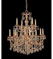 Picture for category Chandeliers 8 Light With Olde Brass Golden Teak Hand Cut Crystal Cast 32 inch 480 Watts - World of Lighting