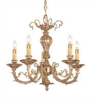 Picture for category Chandeliers 5 Light With Olde Brass Cast 20 inch 300 Watts - World of Lighting