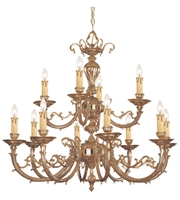 Picture for category Chandeliers 8 Light With Olde Brass Cast Brass 32 inch 480 Watts - World of Lighting
