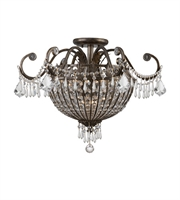 Picture for category Semi Flush Mounts 9 Light With English Bronze Wrought Iron Candelabra 24 inch 540 Watts - World of Lighting