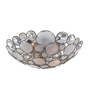 Picture for category Semi Flush Mounts 3 Light With Antique Silver Natural White Capiz Shell and Hand Cut Crystal Wrought Iron 16 inch 180 Watts - World of Lighting