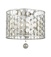 Picture for category Flush Mounts 3 Light With Antique Silver Steel Drum 15 inch 180 Watts - World of Lighting