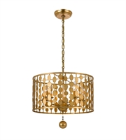Picture for category Chandeliers 5 Light With Antique Gold Steel Drum 18 inch 300 Watts - World of Lighting