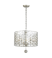 Picture for category Chandeliers 5 Light With Antique Silver Steel Drum 18 inch 300 Watts - World of Lighting