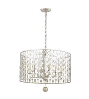 Picture for category Chandeliers 6 Light With Antique Gold Steel Drum 19 inch 360 Watts - World of Lighting